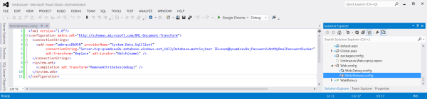 Web Release Transform