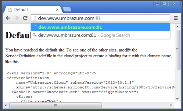 Enter Dev URL