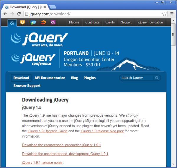 Download jQuery